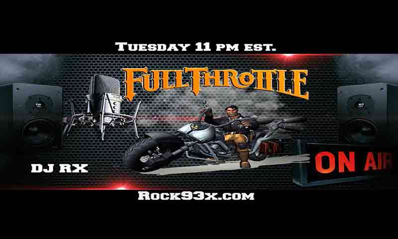 Image of Jeffrey Hoad on Rock93X, Full Throttle Rock Show - Dueling Worlds© International