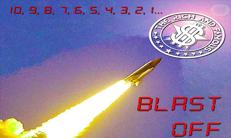 Image of Preorder Blast Off, the third new single - The Rich and Famous Band - Dueling Worlds© International