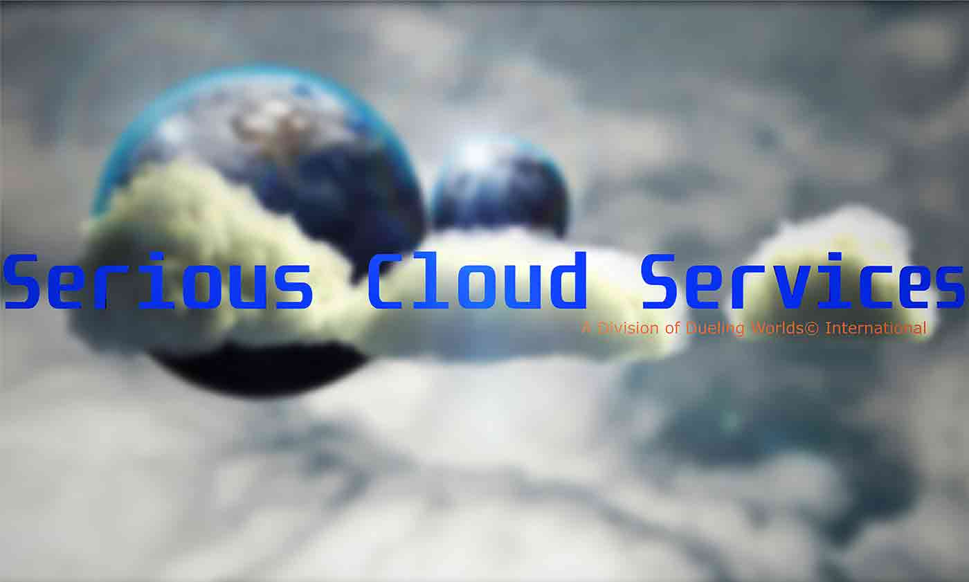Image of Serious Cloud© Services - Dueling Worlds© International Image Logo